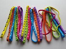 Bandeau élastique à cheveux multicolore - motifs variés - lot de 18 - LB24