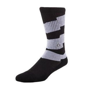 Stance Gripper Cush Skate Socks S/M (Men's US 6-8.5), Black / Gray New