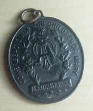 Vintage Congregation Of The Children Of Mary Silver Christian Religious Medal.