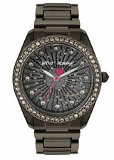 BETSEY JOHNSON BJ00190-80 Women's Crystal Black Bracelet Watch NEW*