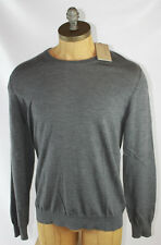 AUTH Burberry Brit Men Wool Gray Check Arm Patches Sweater XL