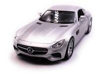 Mercedes Benz AMG GT Sportwagen Modellauto Auto Silber Maßstab 1:34 (lizensiert)