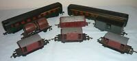 JOUEF OO/HO GAUGE SIX ASSORTED WAGONS AND A SNCF COACH PLUS SPARE BODY