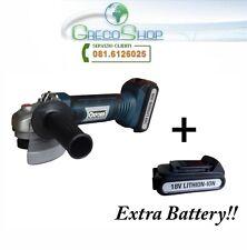 Smerigliatrice angolare/Flex 115mm a batteria 18V Litio c/ batteria riserva
