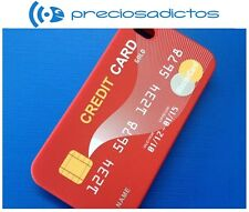 FUNDA CARCASA IPHONE 4 4S TARJETA DE CREDITO MASTER CARD ROJA ROJO SILICONA