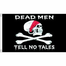 Dead Men Tell No Tales Flag 5 x 3 FT - Large Pirates Skull Cross Bones