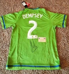 Clint Dempsey Signed NEW Seattle Sounders Replica Jersey. (Steiner COA & Holo)