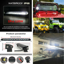 34cm 120W Car SUV Off Road Slim Flood 12 LED Work Light Bars Driving Fog Lamp