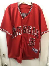 Majestic Cool Base Anaheim Angels ALBERT PUJOLS Men's Baseball Jersey Size 50