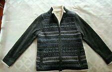 LL Bean Fleece Lined Zip Front Sweater-Size Small-Reg