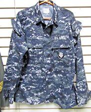 NWOT Genuine US Navy NWU Blue Digital Blouse Shirt MR Petty Officer 2nd Class