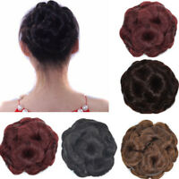 Female Wig Hair Ring Curly Bride Makeup Bun Flowers Chignon Ponytail Hairpiece