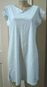 HANRO OF SWITZERLAND BABY BLUE COTTON  NIGHTGOWN, large