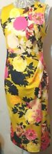 New Dorothy Perkins Sheath Dress UK 12 Mustard Large Pink Navy Floral Bodycon
