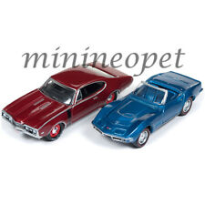 JOHNNY LIGHTNING JLPK003 1968 CHEVY CORVETTE & 1968 OLDSMOBILE 442 1/64 SET