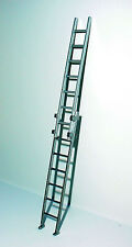 "Extension Ladder Miniature 2 Pc ""Simulated"" Aluminum 1/24 Scale G Scale Diorama"