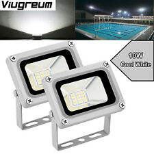 2X 10W 12V Led Floodlight Landscape Outdoor Security Lamp Cool White Viugreum