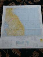 1964 Map of Seoul Korea DMZ North and South Korea Kaesong Wonju Hungnam Inch'on