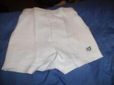 Womens 1980s VTG TENNIS shorts Fancy dress Hen Retro Size 10 White ST MICHAEL