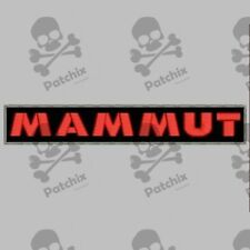 MAMMUT iron patch gesticker patch toppa ricamata patch brode bordado