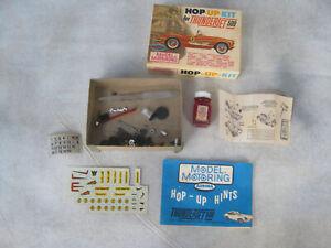 Aurora Model Motoring Hop-Up-Kit 1964 Parts Oil Instructions Decals Original Box