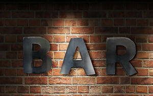 METAL LETTERS NUMBERS EXTRA LARGE SIGN SHOP BAR PUB CAFE WEDDING GARDEN HOME
