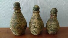 Set of South American Clay Bottles - Folk Art - Excellent Condition