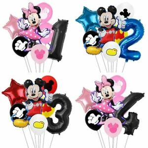 7pcs/lot Minnie Balloons Mickey Mouse Birthday Party Decorations Baby Shower Dec