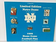 Limited Edition 1999 Notre Dame Fighting Irish Game Day Football Lapel Pin Set