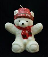 "Vintage 6"" Lazzie Bear Candle Christmas Lazarus Ohio 1987 Holiday Teddy Promo"