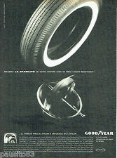 PUBLICITE ADVERTISING 056  1961  les pneus 3T Goodyear
