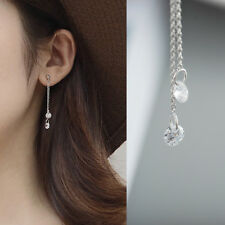 Lange Ohrstecker Zirkonia echt Sterling Silber 925 Damen Ohrringe Ohrhänger