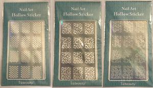 NAIL ART VINYL STENCIL GUIDE STICKER MANICURE STENCIL STICKERS HOLLOW NAIL ART