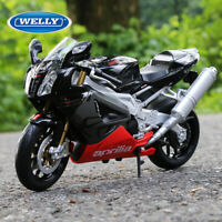 WELLY 1:10  Aprilia RSV 1000R Motorcycle Racing Alloy Model Boys Toy--Black