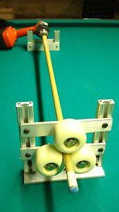 drill motor lathe attachment for repairs pool cue tips clean sand retaper rewrap