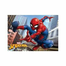 SPIDERMAN CITY FLOOR MAT RUG SOFT MEMORY FOAM KIDS MARVEL 40cm x 60cm