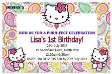 Hello Kitty Birthday Greeting Invitations Ebay