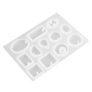 12 Silicone Mold Making Pendant Jewelry Mold Resin Craft Mould DIY Tool Necklace