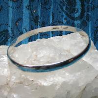 Vintage Taxco Mexico 925 Sterling Silver Bangle Bracelet 8 3/4""