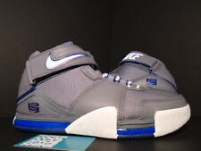 2005 Nike ZOOM LEBRON II 2 COOL GREY WHITE ROYAL BLUE RED ALL-STAR 309378-012 9