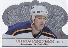 CHRIS PRONGER 2000-01 CROWN ROYALE PREMIER SERIES #25/25 #89 BLUES !