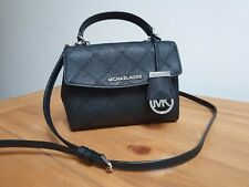 MICHAEL KORS AVA crossbody black saffiano leather   bag Excellent Condition