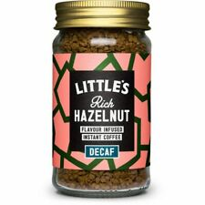 Little's Decaf Rich Hazelnut Flavour Infused Instant Coffee 50g Pack of 12 Jars