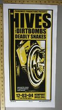 2004 Rock Concert Poster Hives Dirtbombs Deadly Snakes Mike Martin S/N LE 100