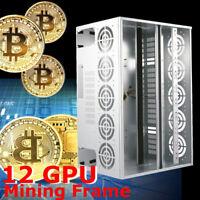 Open Air Mining Case Frame Rig Graphic Mining SECC Machine For 10-12 GPU BTC