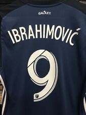 Adidas Mls  La Galaxy Away # 9 Ibrahimovic Jersey 2019 Navy White Size Medium