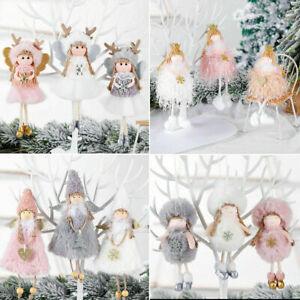Christmas Ornaments Angel Plush Doll Pendant Xmas Tree Hanging Decoration Party!