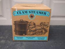 New listing Clam & Lobster Steamer 2 Tier Granite Ware Enamel On Steel 19 Quart Black Nos
