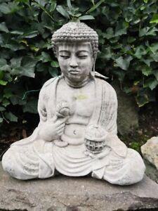 Buddha sitzend aus Beton, 45 cm