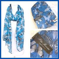Pia Rossini Blue Evelina Summer Scarf Ladies Gift Womens Xmas Christmas birthday